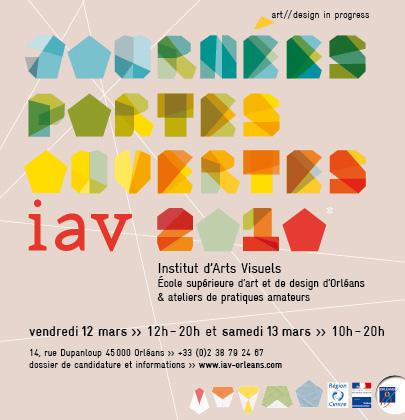 carton d'invitation pour les portes ouvertes de l'IAV